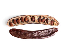 Carob Isolated On White Backgr...