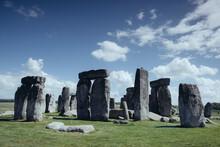 Stonehenge Historic Site On Green Grass Under Blue Sky