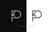 KP, PK, K, P Abstract Logo Monogram Template
