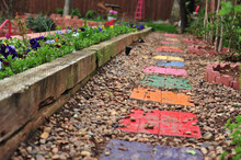 A Colorful Stepping Stone Garden Pathwy