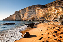Red Beach In Matala