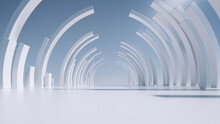 3d Render, White Abstract Mini...