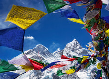 View Of Mt. Everest And Nuptse