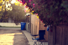 Blue Folding Chair In Sunny Al...