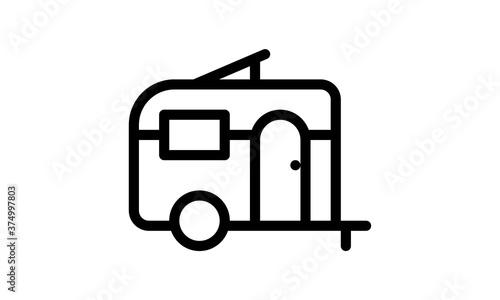 Fotografija Caravan icon vector isolated on white background, logo concept.