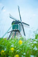 Traditional Dutch Windmill In ...