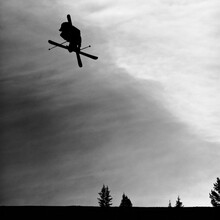 Black And White Silhouette Of ...