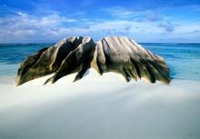 Africa, Indian Ocean, Seychelles, La Digue Island, Anse Source D'Argent Beach