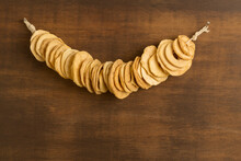 Dried Apple Slices Hanging Fro...