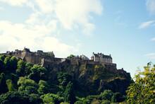 Castle Rock, Edinburgh, Scotland On A Sunny Day