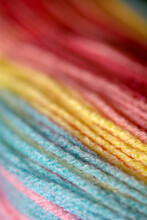 Soft Hues Yarn Threads Macro