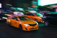 Yellow Taxi In Manhattan, New ...