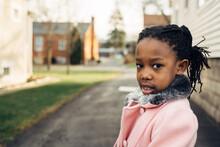 African American Girl Wearing ...