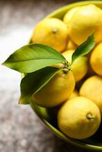 Large Bowl Of Organic Lemons