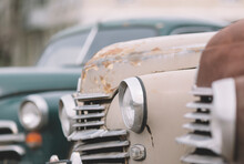 Part Of A Classic Vintage Cars .