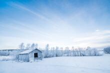 Winter Landscape In Sweden