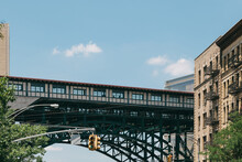 Elevated Train Station In Harlem