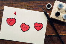 """You Are Loved"""""""" Message And Ink Pen"""