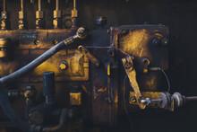Diesel Engine In Vehicle Repair Plant