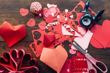 Valentine's Day Craft Mess