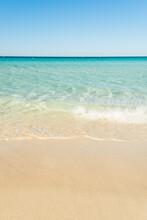 Beautiful Beach With Golden Sa...