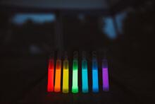 A Rainbow Of Glow Sticks