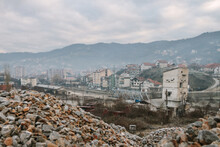 Abandoned Factory Site In Former War Zone, Kosovo