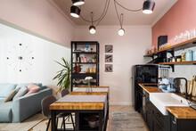 Cozy Living Room In Contempora...