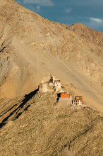 Namgyal Peak With The Ruined Fort Of Tashi Namgyal, India.