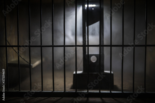 Jail or prison cell Canvas Print