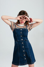 Funny Female With Trendy Outfit
