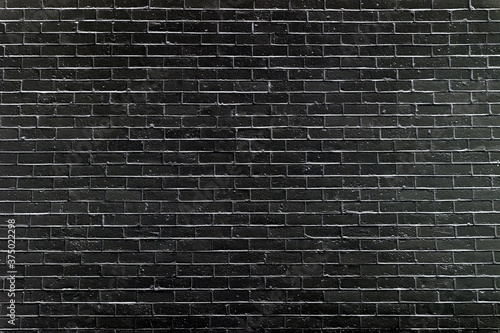 black brick wall may used as background Wallpaper Mural