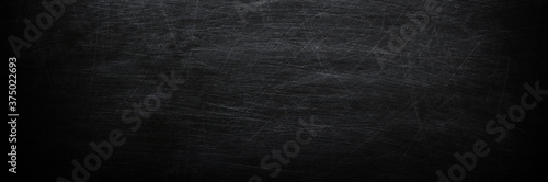Dark, grunge and scratched chalkboard texture may used as background