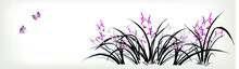 Chinese Painting Of Orchid And...