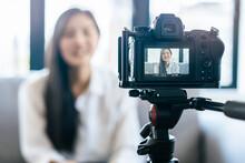 Asian Teenage Talk To Camera R...