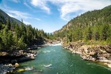 The Kootenai River In The Kootenai National Forest Near Libby, Montana