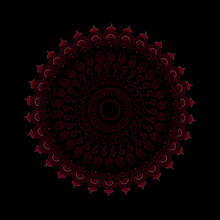 Ornaments Mandala Design With Black Background And Unique Design Shape.