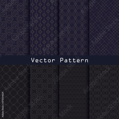 Vector geometric luxury pattern collection design