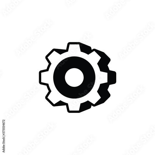 3D gear icon vector on white Fotobehang