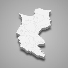 3d Map Of Magdalena Is A Department Of Colombia