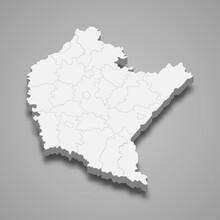 3d Map Of Subcarpathia Voivode...