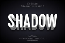 White Shadow 3d Text Style Eff...