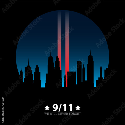 Photo 11 September-Patriot day USA.We will never forget