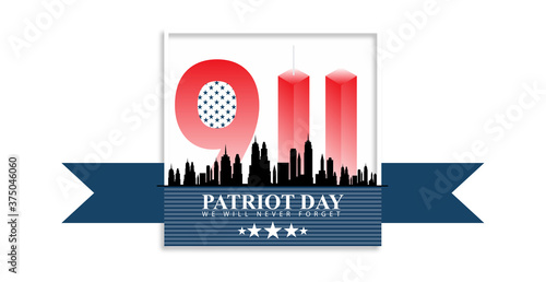 11 September-Patriot day USA.We will never forget Wallpaper Mural
