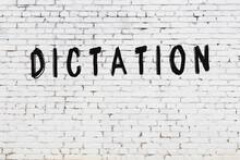 Inscription Dictation Painted ...