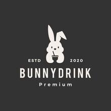 Rabbit Bunny Drink Hipster Vin...