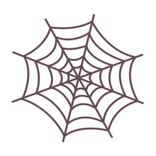 Cute Halloween Spider Web Icon...