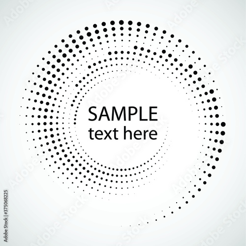 Halftone dots in circle form. round logo . vector dotted frame . design element Wall mural