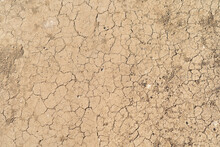 Dry Ground Rough Cracks In The...