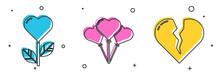 Set Heart Shape In A Flower, B...